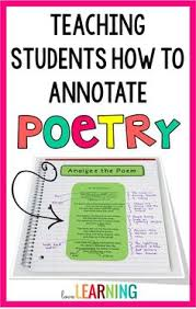 this post explains how i teach my fifth graders to annotate poetry in order to