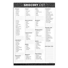 Grocer List Amazon Com Home Advantage Grocery List Notepad With Magnet