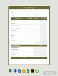 Free Budget Template 20 Free Pdf Word Excel Download