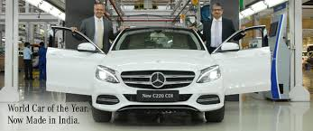 new car release in indiaThe World Car of the Year now Made in India MercedesBenz