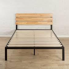 metal platform bed frame. Queen Size Modern Wood And Metal Platform Bed Frame With Headboard Metal Platform Frame 1