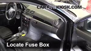 interior fuse box location 2004 2009 mazda 3 2009 mazda 3 s 2 3l 2008 Mazda 3 Sedan interior fuse box location 2004 2009 mazda 3