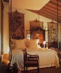 bedroom asian style home decor chinese tapestry and tall canopy