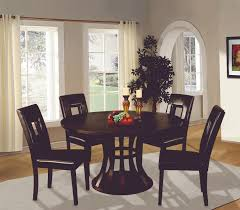 black 48 inch round dining table