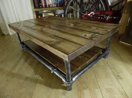 ... Coffee Table, Amusing Brown Rectangle Wood Rustic Coffee Table Plans  With Storage Design To Decorating ...