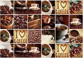 Wallpaper valentine s day love gift romance heart cup sign. I Love Coffee Squares Photo Wallpaper Mural 10448ve