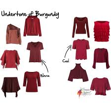 undertone of red and burgundy