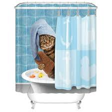 shower in style with these  totally awesome cat shower curtains