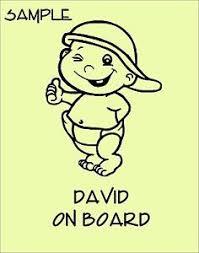 bebe a bord personnalise nom vinyle autocollant voiture