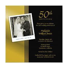 50th Anniversary Party Invitations Golden Anniversary Invitation With Photo