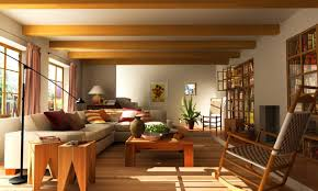 decoration: Grand Interior Asian Living Room With Attractive Furniture Of  Wooden Rocking Chair Also Coffee