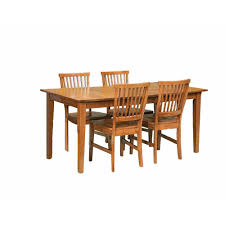 home styles arts and crafts 5 piece cote oak dining set