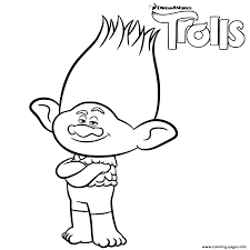 Small Picture Branch Trolls Coloring Pages Printable