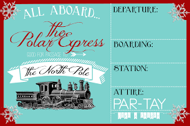Christmas Party Tickets Templates Polar Express Party Invitation Party Like A Cherry 9