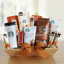 awesome starbucks gift basket