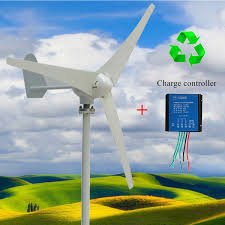 wind turbine generator wind generator kit 400w dc 12v 24v 3 blade with controller max power 500w for marine rv homes industrial energy walmart
