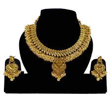 Antique Polki Jewellery Designs Polki Design Antique Gold Plated Necklace Set 200887w1630
