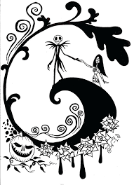 Nightmare Before Christmas Coloring Pages Creativeinfotechinfo