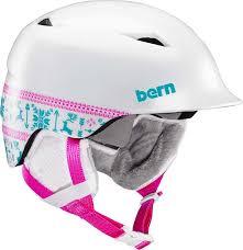 Bern Camino Kids Ski Snowboard Helmet S M Satin White Fair Isle