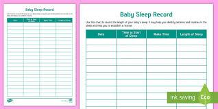 Baby Sleep Patterns Chart When Do Babies Sleep Through The Night
