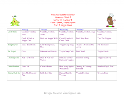 Useful Blank Weekly Lesson Plan Template Preschool Best Photos Of ...
