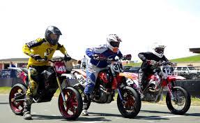 zero fx supermoto racing against gas bikes video motorcycle