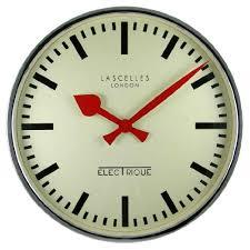 chrome retro wall clock 17 7 inch