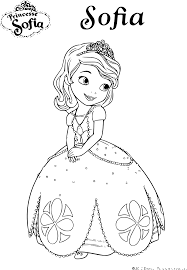 Coloriage De Princesse Sofia Disney Imprimer Sur Coloriage De Com