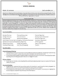 Good It Resume Examples Impressive Good CV Resume Sample for Experienced Chartered Accountant 40
