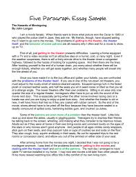 examples of paragraph essays co  5 paragraph essay examples