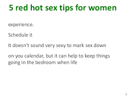 ... 8. 75 red hot sex tips for womenexperience.