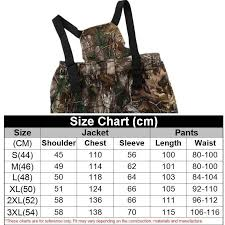 Ghillie Suit Size Chart Breathable Bionic Camouflage Hunting Clothing Hunting Ghillie Suit Camouflage Hunting Jacket Pants Hunting Suit Hunter Uniform