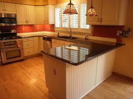 Small Kitchen With Peninsula Peninsula Brown Wooden Kitchen Cabinets U Shaped Kitchen Wood