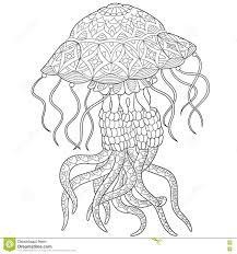 медузы Zentangle стилизованные иллюстрация вектора иллюстрации