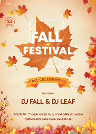 Fall Flyer Fall Festival 2 Free Psd Flyer Template Free Psd Flyer
