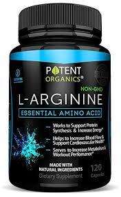 l arginine essential amino acid 120 vegetarian capsules for muscle heart and energy