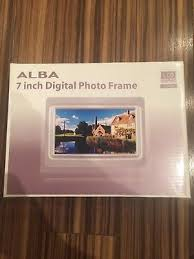 alba 7 inch digital photo frame silver lcd display