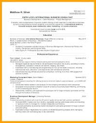 Student Resume Templates Awesome Resume Outline For College Students Internship Program Template