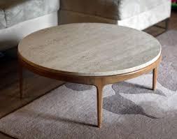 mesmerizing dark brown round contemporary wood round modern coffee table depressed design