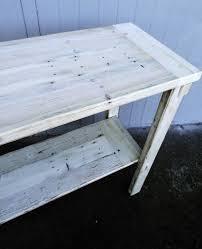 whitewash wood furniture. Reclaimed Wood Sofa Table Whitewashed Rustic Shabby Shic Whitewash Furniture D
