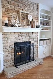 Best 25 Faux Stone Fireplaces Ideas On Pinterest Rustic Inside Faux Stone  For Fireplace ...