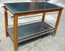 kitchen island stainless steel top kitchen cart w stainless steel top stainless 6 white kitchen island