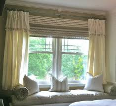 how to put curtains on a bay window lovely eyelet curtains a bay window pole home