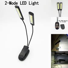 Clip On Led Piano Light Us 4 44 11 Off Hot Worldwide 2 Dual Flexible Arms 2 Led Clip On Light Lamp For Piano Music Stand Book Use Aaa Usb In Portable Lanterns From Lights