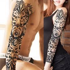 полный рука цветок татуировки наклейки водонепроницаемый временные татуировки