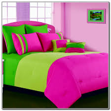pink and green queen comforter sets lime bedding beds home furniture design 11
