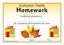Certificates Printable Printable Homework Certificates For Primary Sparklebox