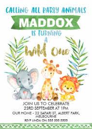 Safari Party Invitations Safari Birthday Invitations Zazzle