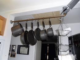 Hanging Kitchen Pot Rack Kitchen Accessories Wooden Wall Cabinets Kitchen Renovation