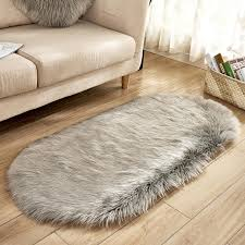 cilected grey white plush faux fur carpet for living room kids room fluffy area rug bedroom mats home warm floor mat 60 120cm frieze area rugs plush carpet